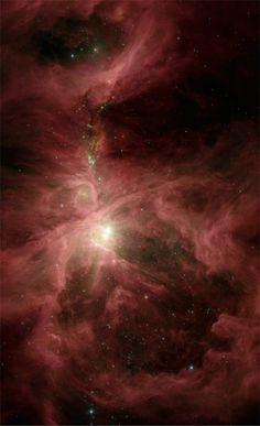 This infrared image from NASA's Spitzer Space Telescope shows the Orion nebula, the closest massive star-making factory to Earth. - Credit: NASA/JPL-Caltech/S.T. Megeaty (Univ. of Toledo,OH).