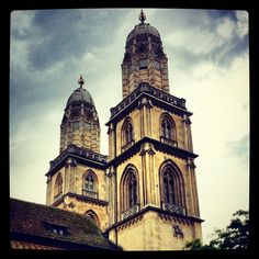 Grossmünster in Zürich, Switzerland. The Places Youll Go, Places To Visit, Lighthouse, Notre Dame, Switzerland, Tower, Europe, City, World