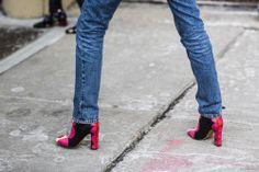 Vintage denim + Valentino boots.Source: a love is blind.