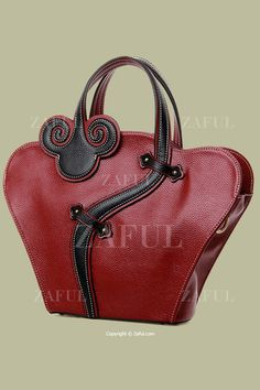Cheongsam Shape Color Matching Embossing Tote Bag