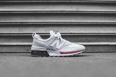 New Balance 574 Sport - White / Red