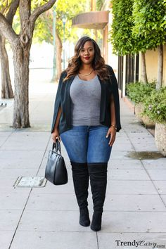 TrendyCurvy | Plus Size Fall Fashion | Over-the-knee boots