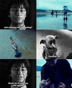 Harry Potter and Dobby. Saddest part of Harry Potter. Harry Potter Tumblr, Harry Potter Sad, Mundo Harry Potter, Harry Potter Quotes, Harry Potter Twins, Hp Quotes, Hogwarts, Harry Potter Triste, Fans D'harry Potter