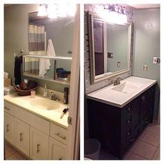 Note How The Back Legs Look Around The Baseboard Bathrooms - Baseboard around bathroom vanity