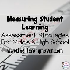 """How do you know if students have """"got it?"""" This #2ndaryELA Twitter chat was all about measuring student learning in the ELA classroom. Middle school and high school English Language Arts teachers discussed different types of informal and formal assessments. Teachers also shared how their assessments are designed and creative methods of measuring learning. Read through the chat for ideas to implement in your own classroom."""