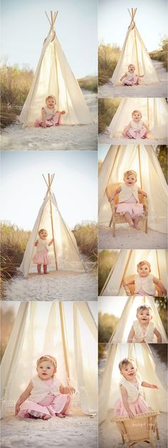 Beach Baby Photography Storyboard | http://fancifulphotography.com  My beautiful baby girl on her 1st birthday! Kimberly at fanciful photography is so talented!