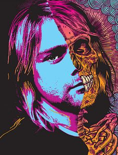 Kurt Cobain by Ben Brown from his 'Die Young' series.