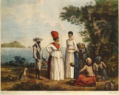 Engraved print of painting by Agostino Brunias, published by John P. Thompson (London), October 6, 1804; print held by the Barbados Museum.
