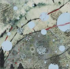 Net with Blue and Red Dots-Love Her work! Sondra Dorn-Asheville, NC