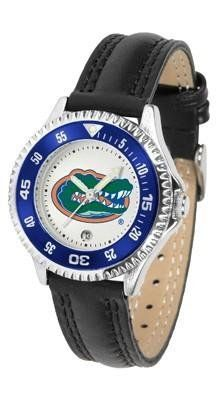 Florida Gators Women's Leather Sports Watch by SunTime. $68.95. Date Calendar And Rotating Bezel. Officially Licensed Florida Gators Women's Leather Sports Watch. Women. Poly/Leather Band. Adjustable Band. Florida Gators Women's Leather Sports Watch. The Gators wris watch features functional rotating bezel color-coordinated to compliment team logo. A durable, long-lasting combination nylon/leather strap, together with a date calendar, round out this best-selling timepiece. Per...