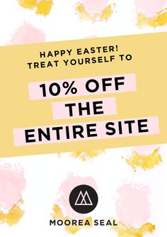 Happy Easter! Treat yourself to 10% off site wide - even new arrivals and sale markdowns! Now through 4/5 midnight with code HOPTOIT