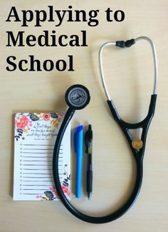 process of applying to medical school can be tricky and I get a lot of questions about it. Today I'm breaking down the process to help you apply! Best Nursing Schools, Nursing School Tips, Getting Into Medical School, Nursing School Prerequisites, Pa School, High School, School Application, Planning Budget, Med Student