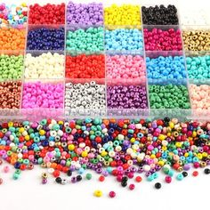 Diy Crafts Jewelry, Bead Kits, Czech Glass, Jewelry Findings, Color Mixing, Seed Beads, Glass Beads, Jewelry Making, Plastic