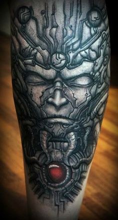 TATTOO OF NI LS.........PARTAGE OF H.R. GIGER.........ON FACEBOOK...........