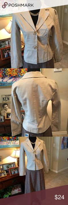 Frederick's of Hollywood Cream Blazer SZ4 like new 2 button Frederick's of Hollywood Cream Color long sleeve blazer! Goes with anything from a skirt, dress pants, or jeans! No flaws!! Excellent condition! Frederick's of Hollywood Jackets & Coats Blazers