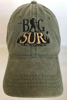 Big Sur California Coast Green Baseball Hat Cap Strapback Hiker Bird  Mountain  Otto  BaseballCap 16fd45291818