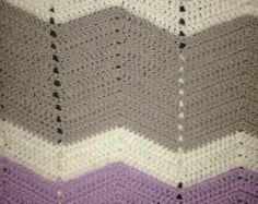 In stock Ready to ship Free Shipping Crocheted chevron pink