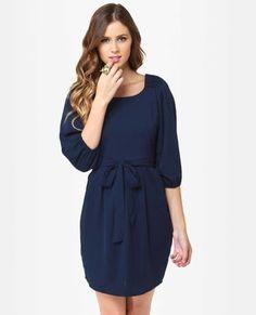 It's My Party Navy Blue Dress by Lulusdotcom