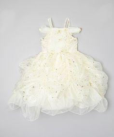 Another great find on #zulily! Ivory Star Pick-Up Dress - Toddler & Girls #zulilyfinds
