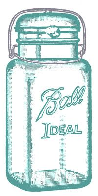 Vintage Clip Art - Glass Mason Jar Label (also without writing & in black) - from The Graphics Fairy #printable #mason #jar #free