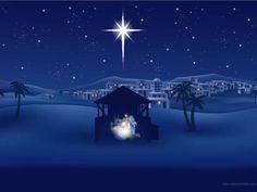 Christmas Cards for Facebook christ | Fondo Estrella de Belen, Portal de Belen, fondos para Navidad gratis ...