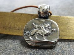 Winged Lion of Venice Pendant Necklace by Serrelynda on Etsy