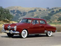 this is a 1950 studebaker commander another  common name for it would be the bullet nose