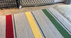 This new colour option for ELINA-rug is called Traffic Lights. Traffic Light, Handmade Rugs, Weaving, Textiles, Colour, Lights, Pop, Farmhouse Rugs, Color