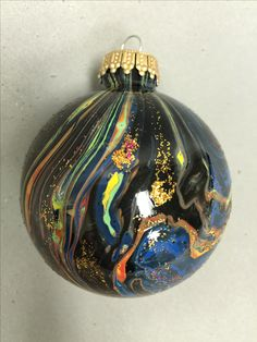 Unique and artistically painted ornament, Great gift idea