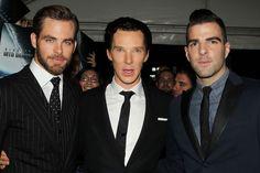 Chris Pine, Benedict Cumberbatch and Zachary Quinto.