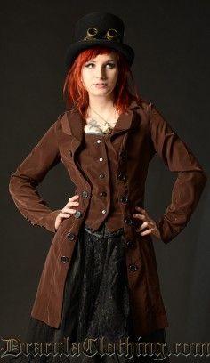 Steampunk Pirate Coat #coat #steampunk #pirate http://draculaclothing.com/index.php/steampunk-pirate-coat-p-537.html