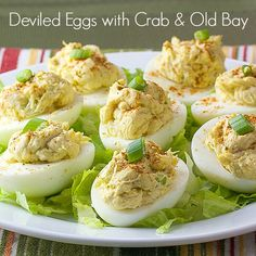These Crab Deviled Eggs are a delicious twist on the standard deviled eggs. This recipe uses crabmeat and Old Bay Seasoning.