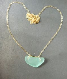 Sea Glass Necklace Light Blue by PoluMoana on Etsy, $43.00