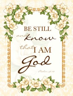 MAGNET... Be Still and Know... Scripture Bible Verse Christian Art.  via Etsy - Karla Dornacher.