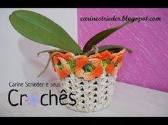 Cachepô Amor Perfeito em crochê por Carine Maria Strieder - YouTube                                                                                                                                                      Mais