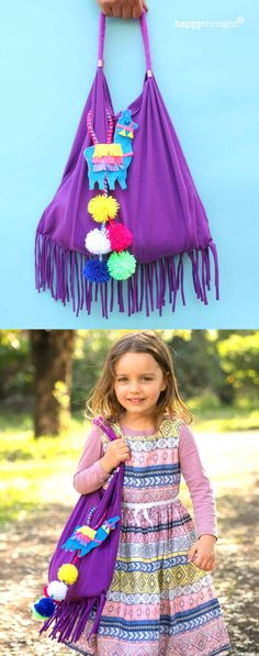 Most up-to-date Pics sewing bags template Concepts LLAMA TASSEL BAG Recycle a T-shirt to make this adorable no-sew bag. This is an easy and fun craft New Crafts, Book Crafts, Crafts To Sell, Sewing Crafts, Llama Pictures, Library Bag, Needle Felted, Recycled Crafts, Book Making