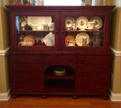 Broyhill Attic Heirlooms Lighted Buffet Hall Cabinet In