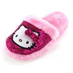 Hello Kitty Girls Pink Scuff Slippers – Go Shop Shoes Hello Kitty Kitchen, Hello Kitty House, Cute Baby Shoes, Cute Baby Clothes, Hello Kitty Merchandise, Crazy Nail Designs, Hello Kitty Accessories, Kids Pjs, Girls Slip