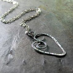 Petite Sweetheart necklace in sterling silver   ...from LavenderCottage on Etsy