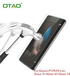 用huawei p6 p7 p8 lite honor 6 7 3c 4c 3x強化ガラス画面保護フィルム携帯電話アクセサリーでクリーニングキット
