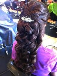 long formal hairstyles half up - Google Search