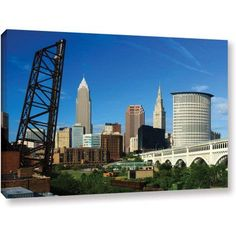 Cody York Cleveland 13 inch Gallery-Wrapped Canvas, Size: 32 x 48, Green