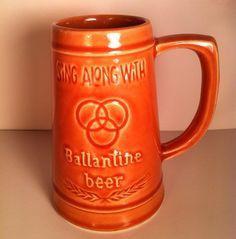 Drink Along With Ballantine, Sing Along With Ballantine Vintage Mug on Etsy, $23.00