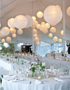 white paper lanterns wedding reception Black and white Rhode Island wedding: Emily + Paul Wedding Tent Decorations, Wedding Lanterns, Paper Lantern Wedding, Wedding Centerpieces, Chinese Lanterns Wedding, Wedding Tent Lighting, Burlap Centerpieces, Table Decorations, Paper Lantern Centerpieces