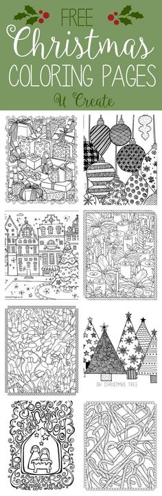 "We couldn't leave out ""Christmas"" when it comes to our adult coloring page roundups! You can't walk into a store without seeing those popular adult coloring books everywhere! You can hang or frame you"