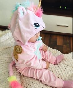 Little baby unicorn 💖🌈🦄 So Cute Baby, Cute Baby Clothes, Baby Love, Cute Kids, Cute Babies, Unicorn Baby Clothes, Baby Unicorn Costume, Unicorn Baby Outfit, Unicorn Halloween