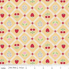 Tablecloth in Yellow Bake Sale Cottons Riley by chitchatfabrics, $8.50