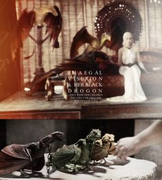 Rhaegal, Viserion and her black Drogon. They were her children. The only children she would ever have