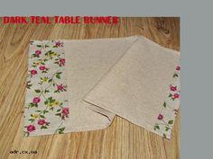 dark teal table runner