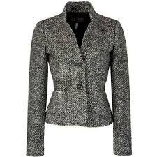 Image result for grey and black tweed blazer Tweed Blazer, Grey, Jackets, Black, Winter, Women, Image, Fashion, Gray